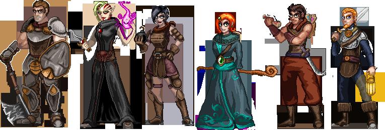 Game Design Character Classes : Wayward souls